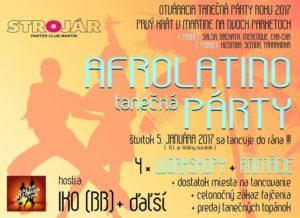 Afrolatino otváracia party roku 2017 s Ikom + 4xWS @ STROJÁR / PANTER CLUB
