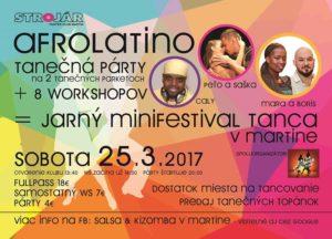 Jarný minifestival tanca - 8 workshopov a Af-La party @ STROJÁR / PANTER CLUB