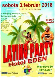 Latino párty Hotel EDEN @ Trnavský kraj | Slovensko