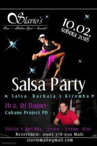 Prvou Salsa Party 2018 v Slavio's Nováky @ Slavio's
