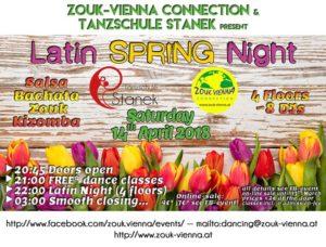 Latin Spring Night 4Floors~8DJs Salsa Bachata Zouk Kizomba @ Tanzschule Stanek