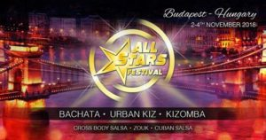 All Stars Festival 2018, Budapest ☆ 6th edition ☆ 1-4 Nov 2018 @ Duna Palota