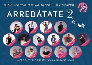 Arrebátate 2 Cuban New Year Festival Official Budapest 2018/19