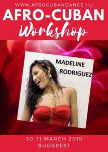 Madeline Rodriguez AfroCuban Workshop Budapest @ Hölgyválasz Dancestudio