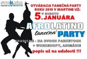 Otváracia AfroLatino tanečná party r.2019 @ STROJÁR / PANTER CLUB