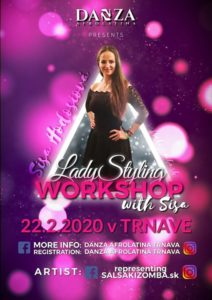 DANZA WORKSHOP 2020 - LADY STYLING with SISA HODOSIOVÁ @ Olymp Gym Merkur