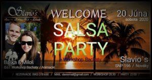 Welcome SALSA PARTY v Slavio's Nováky @ Slavio's